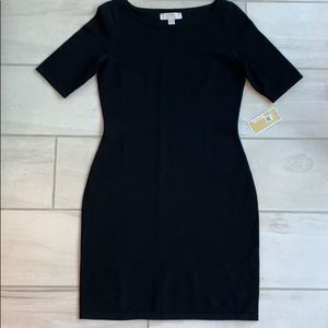 NWT Micheal Kors Black ribbed bodycon dress size S
